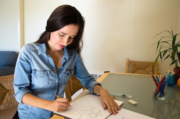 Oksancia surface pattern designer sketching - portrait