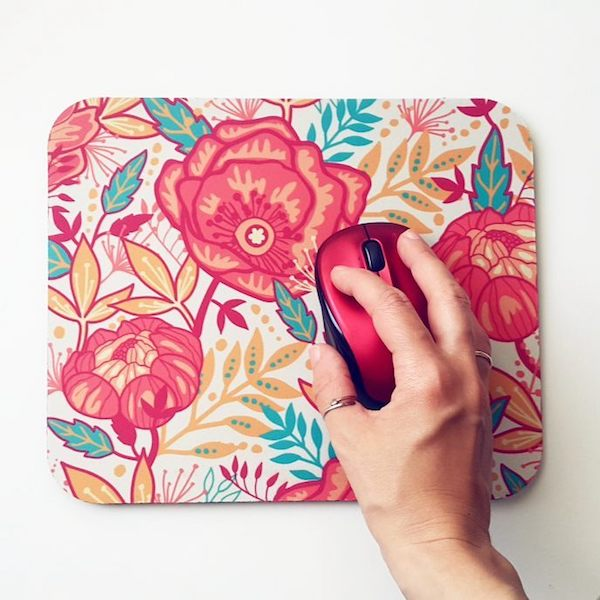 Oksancia floral pattern mousepad giveaway photo