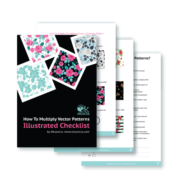 How to multiply vector repeat patterns illustrated checklist ebook by Oksancia
